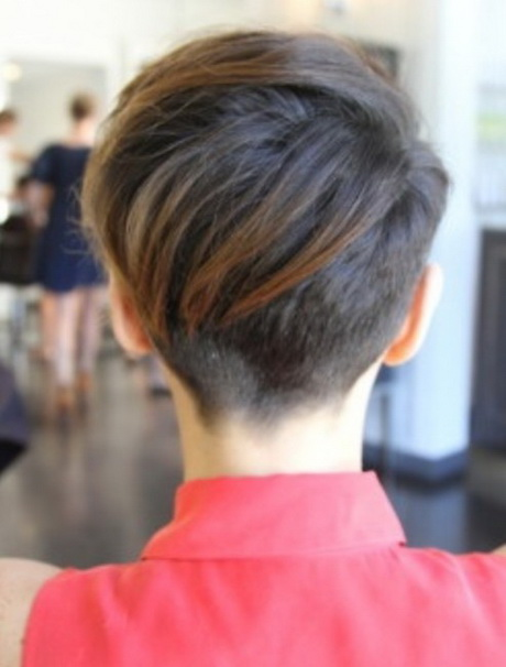 Short pixie haircuts back of head