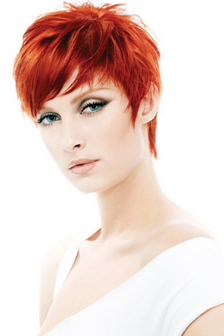 Short red hairstyles for women