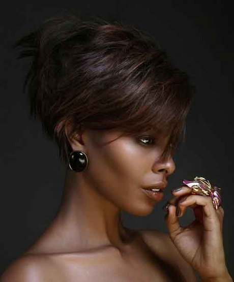 Sassy haircuts for black women. Edgy short hairstyles for black women