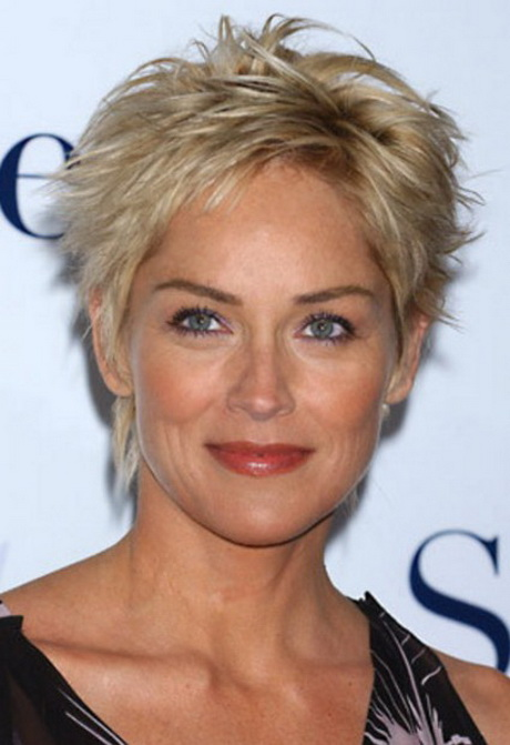 ... for Mature Women Sharon Stone Short Hairstyles for Women over 50s
