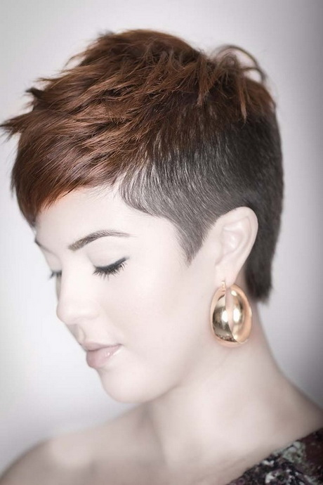 Shaved side short hair style for women. Via Erin O'Neil