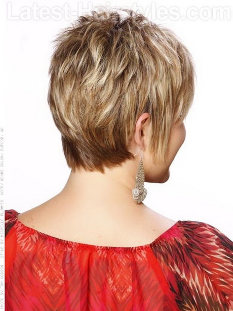 ... Pixie Wispy Short Hairstyle For Older Women Back View. How to Style