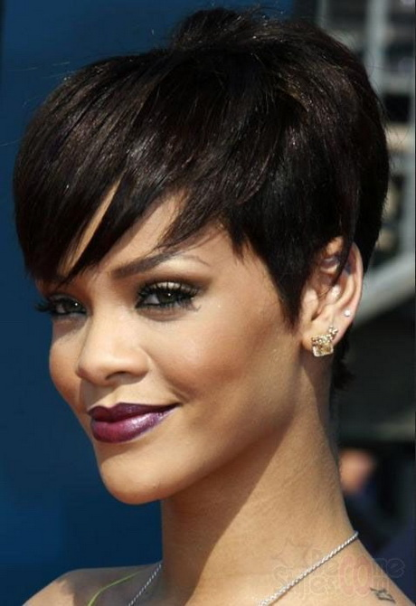 tapered haircut for black women with front long bang | 2013 Short ...