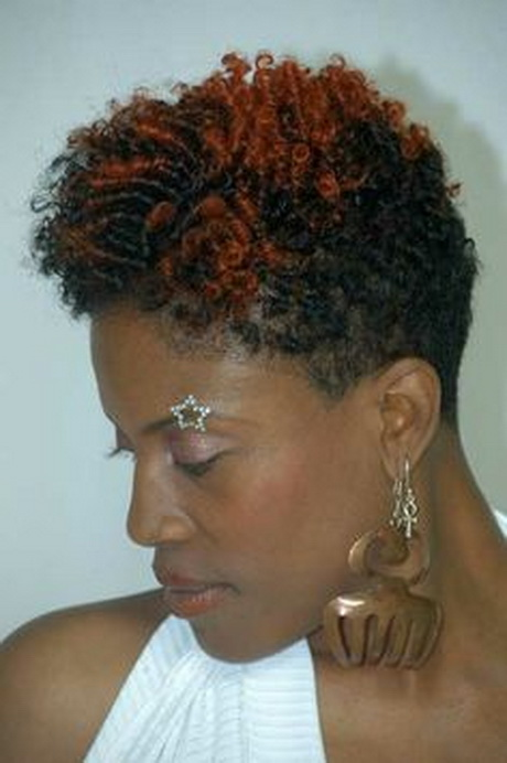 Short Hairstyles for Black Women with Red Hair
