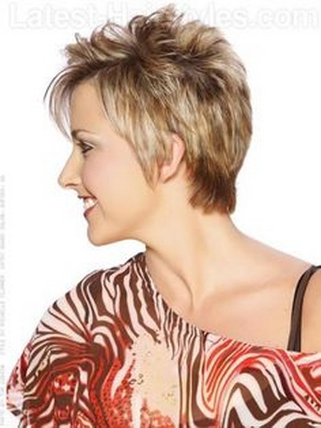 Caramel Textured Short Cut with Body – Side View. Pinned from ...