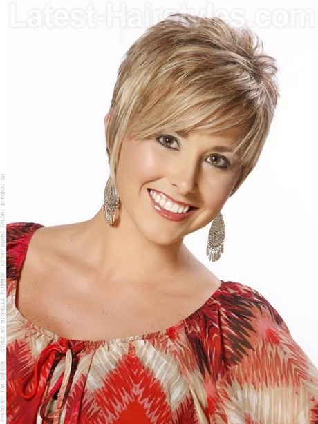 ... The longer bangs and sandy color help add style and drama. Short