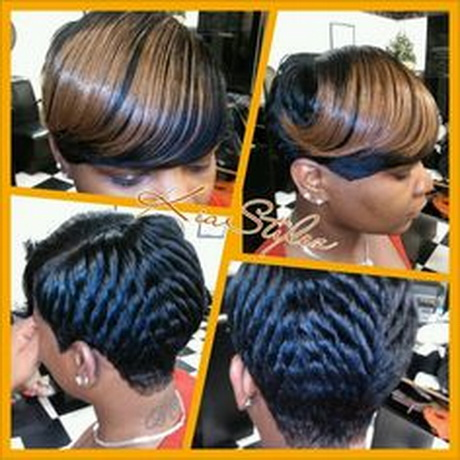 weave hairstyles short cropped. Shondra's quick weave hairstyles