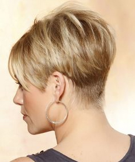 Hairstyle Short Wedge Haircut Back View