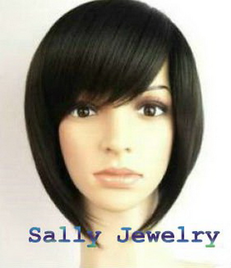 Sexy Wig Short Black Straight Women's Wig Fashion Wig Party Wigs ...