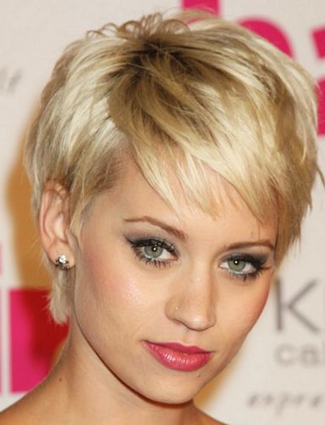 Kimberly Wyatt oblong face wispy pixie haircut. Found on m.hairstyle ...