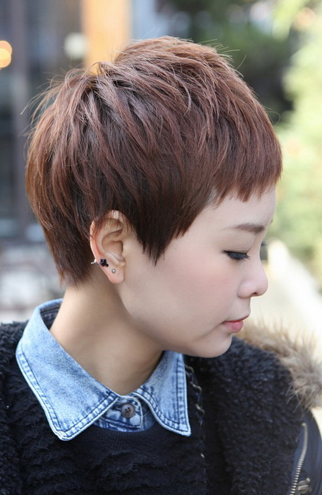 Pixie Haircut Front and Back View
