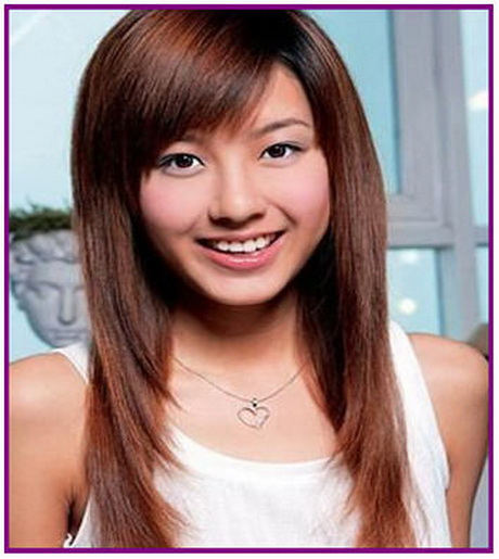Girls With Side Fringe Side Fringe Haircuts For Long Hair
