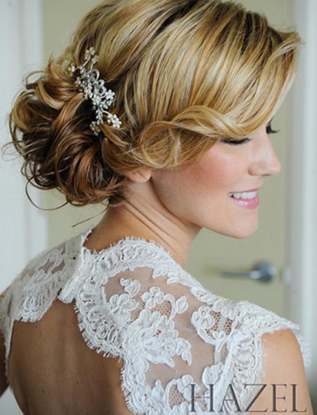 Side swept wedding hair