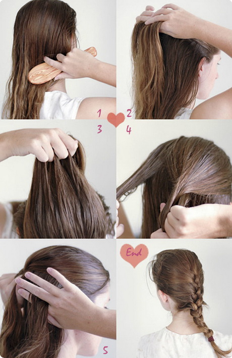 Simple hairstyles for long hair step by step
