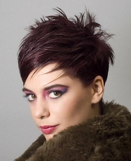 Spiky pixie haircut