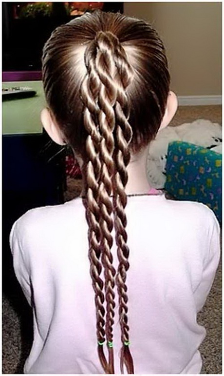 An easy to do and sport hairstyle with triple braids made form a top