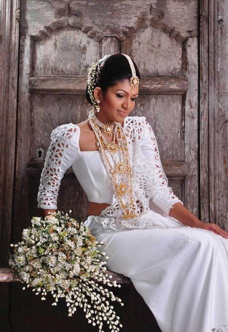 Sri lankan bridal hairstyles for Sri lankan wedding dress