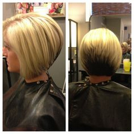 Stacked Haircut with Highlights