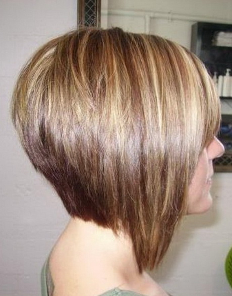 Back View of Stacked Bob Hairstyle Best Layered Short Haircut credit ...
