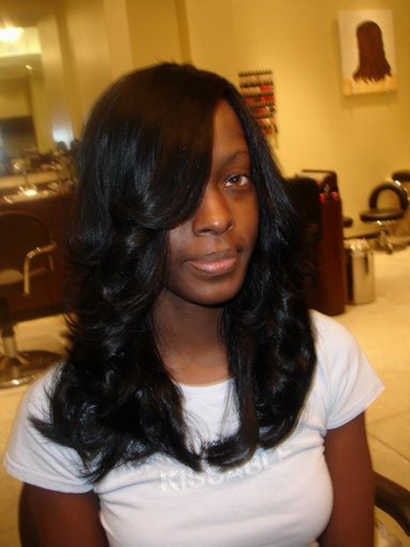 Hairstyles For Straight Hair Weave : Straight weave hairstyles for black women