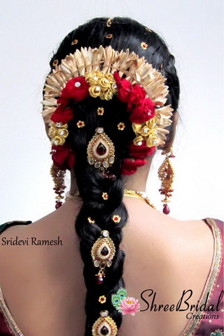 Tamilnadu Bridal Hairstyle : Tamilnadu wedding hairstyles pictures long
