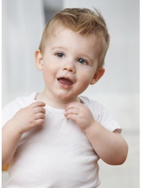 Toddler Boy with Blonde Hair