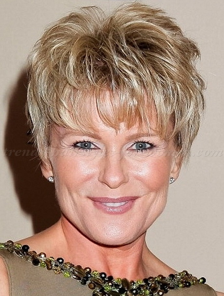 2013 Short Shaggy Hairstyles for Women Over 50
