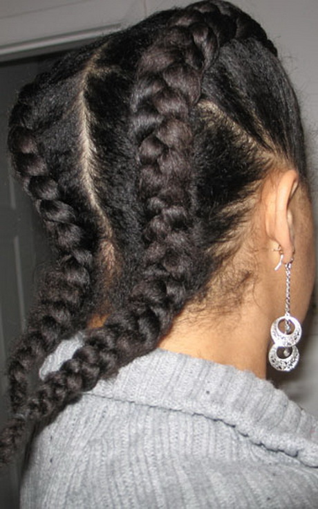 Two braids hairstyles black