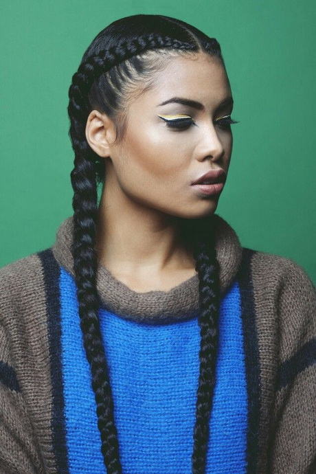 Crochet Braids In Zambia : Two French Braids With Weave Hairstyles additionally Chitenge Zambian ...