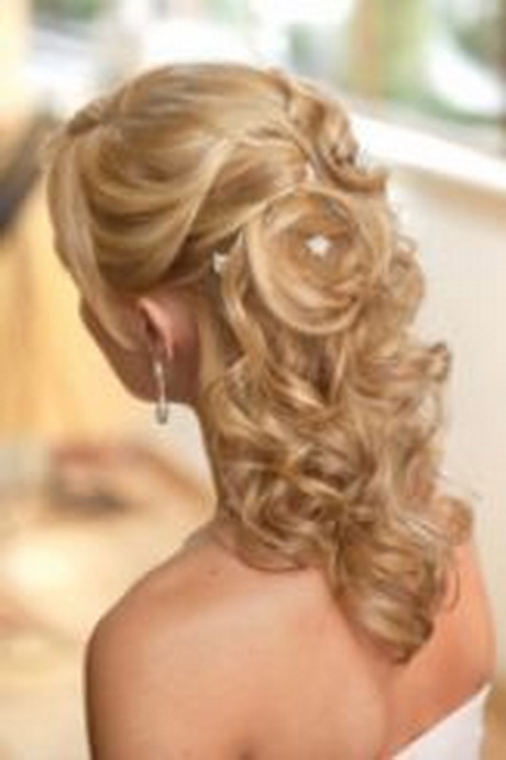 Length | Half up half down wedding hairstyles for medium length hair ...