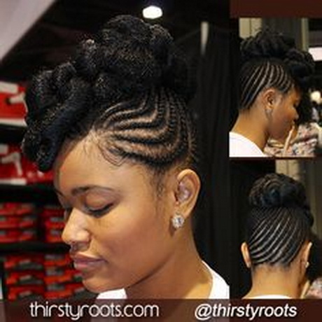 Jet Black Braided Updo. To learn how to grow your hair longer click ...