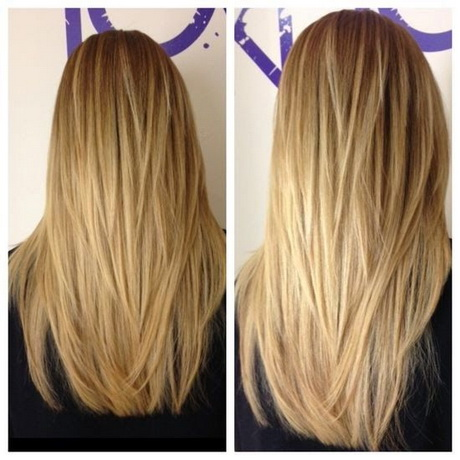 how to cut long hair not straight across