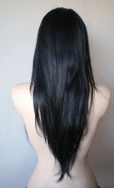 shaped haircut long hair
