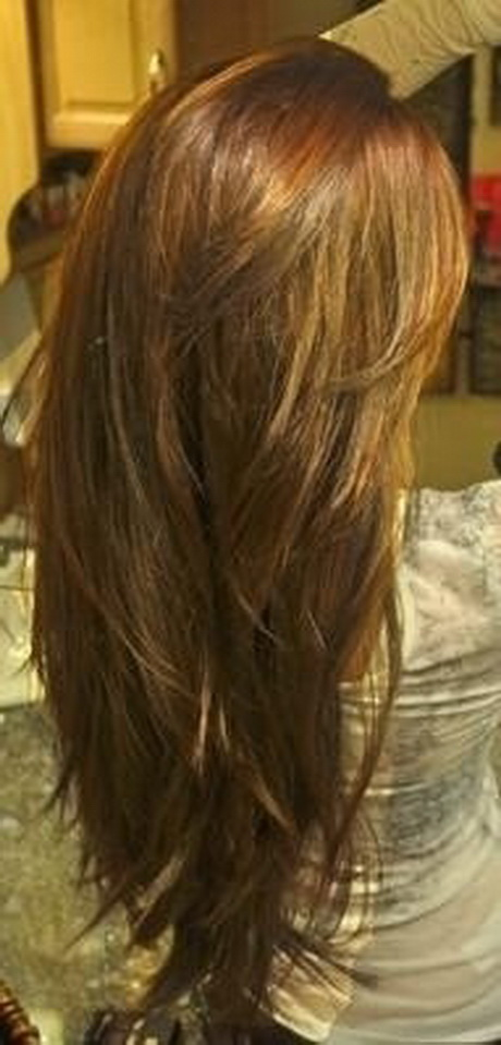 how to cut hair in v shape layers