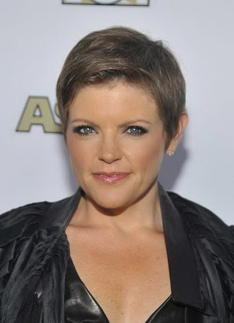pixie haircuts for older women. This one is a good short cropped pixie ...