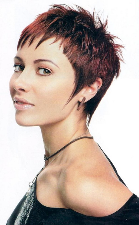 Very short cropped hairstyles for women