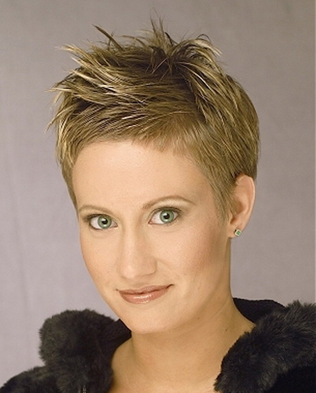 Very short spikey hairstyles for women