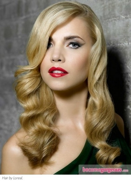 Curly Hair Vintage Style : Vintage hairstyles for long hair