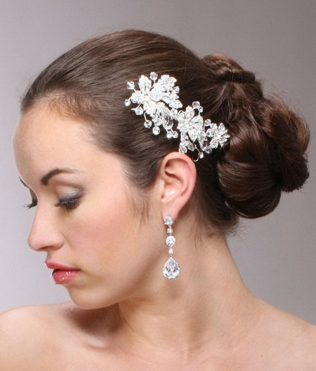 crystal spray bridal hair clip