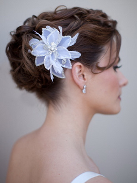 Bridal Updo Flower : Wedding flower hair clips