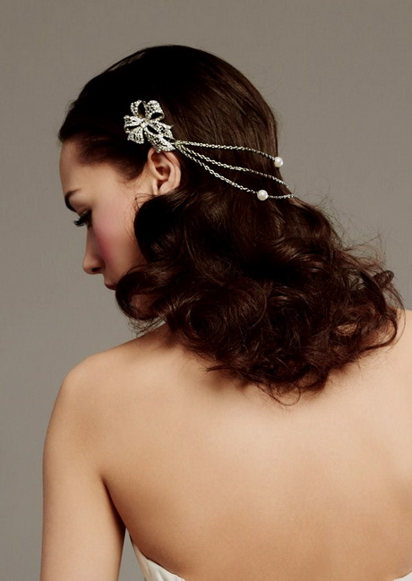 Wedding bridal hair jewelry artificial pearl and Rhinestone Crystal ...