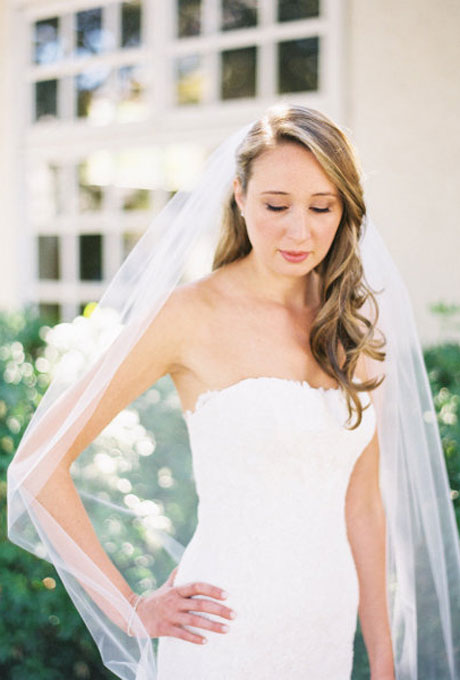 Wedding hair styles with veil