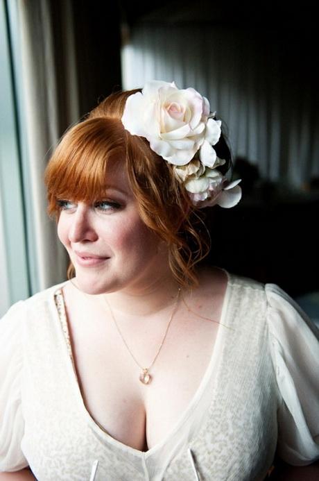 Wedding hair with fringe - photo #6