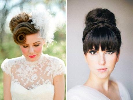 Wedding hair with fringe - photo #48