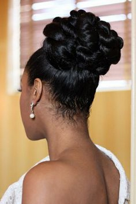 Black Hair Wedding Hair Style Wedding Up Do Black Bride Black Hair