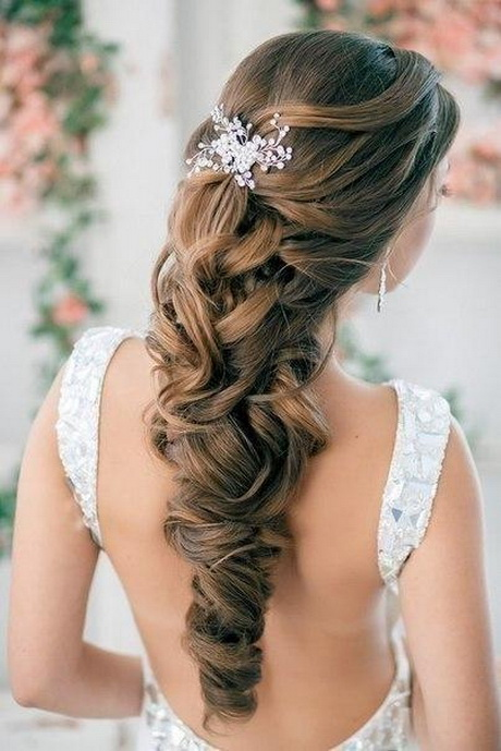 Wedding Hairstyles For Long Hair Half Up Half Down Straight : Wedding hairstyles for long hair half up down