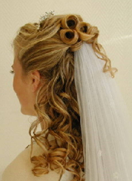 New Wedding Down Hairstyles for Long Hair with Veil …