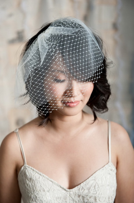 Wedding Hairstyle With Bridal Veil