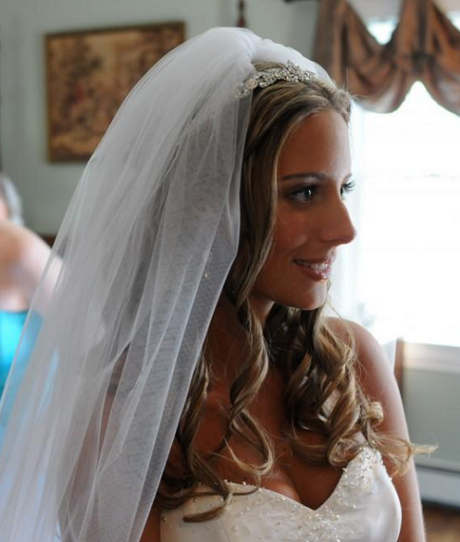 Wedding Hairstyles For Long Hair With Veil: Wedding Veils With Hair Down