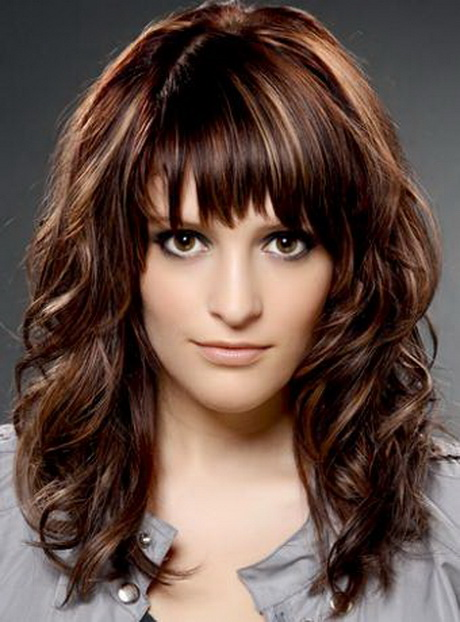 Long Layered Hairstyles with Wispy Bangs